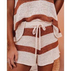 Honolulu Striped Knit Shorts